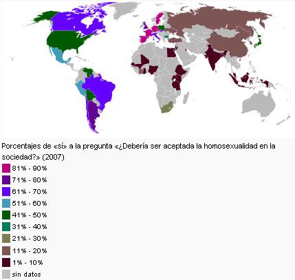 Homosexualidad aceptación mundial
