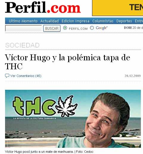 La polémica foto de Victor Hugo Morales en THC