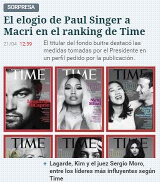 Paul Singer elogia a Macri